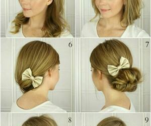 bow, bow tie, and hairstyles image
