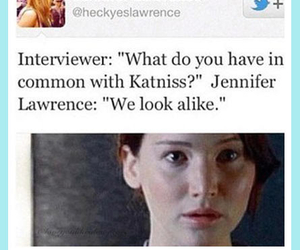 funny, Jennifer Lawrence, and hunger games image