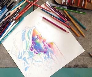 colourful, drawing, and OMG image