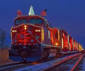 christmas and train image