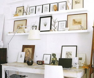desk, interior, and interior design image
