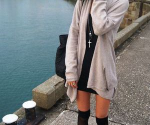 girl, cardigan, and fashion image