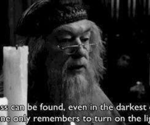 harry potter, quote, and dumbledore image
