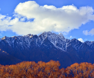mountains, new zealand, and summer image