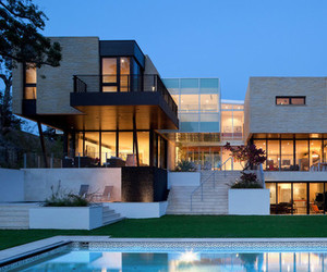 house, pool, and modern image