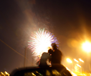 couple, fireworks, and cute image