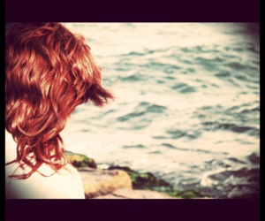 hair, pretty, and red image