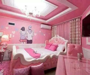 pink, bedroom, and girl image