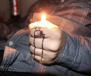 fire, lighter, and boy image