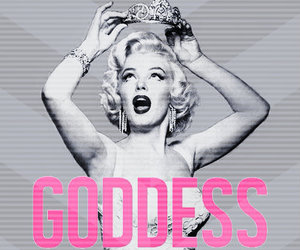 goddess, Marilyn Monroe, and Queen image
