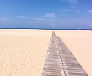 beach, blue sky, and portugal image