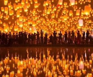 festival, thailand, and lights image