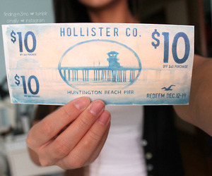 hollister, money, and tumblr image