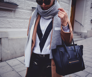 fashion, pretty, and scarf image