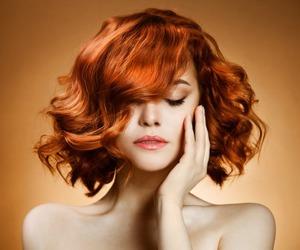 beautiful, curly, and orange image