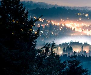 fog, lights, and neverland image