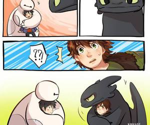 toothless, baymax, and how to train your dragon image
