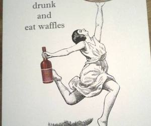 drunk and waffles image
