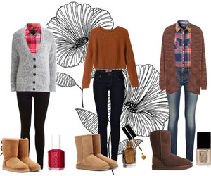 autumn, brown, and cardigans image