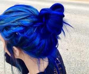 alternative, dye, and electric blue image