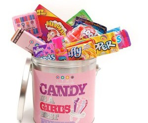 best friend, bucket, and candy image