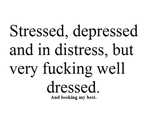 depressed, well dressed, and fashion image