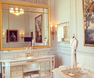 bath, design, and gold image
