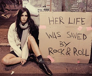 rock & roll, text, and fashion image
