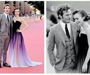 lily collins, sam claflin, and loverosie image