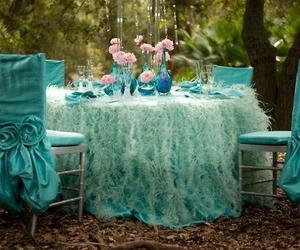 blue, turquoise, and vintage image