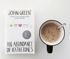 book, coffee, and john green image