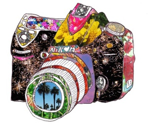 camera, nikon, and art image