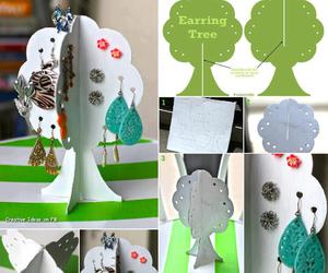 diy, tree, and earrings image