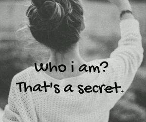 secret, quotes, and black and white image