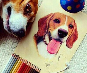 dog, drawing, and art image