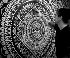 artist, black and white, and draw image