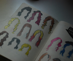 colors, demi lovato, and hair image