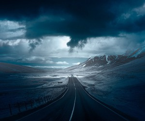 road, sky, and blue image
