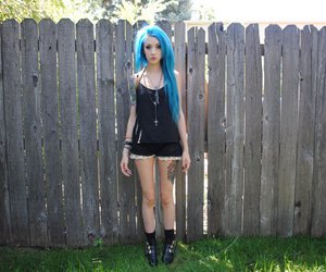natasha lillipore, girl, and blue hair image