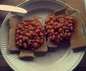 beans, british, and delecious image