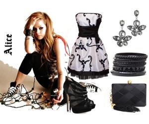 alice, Avril Lavigne, and dresses image