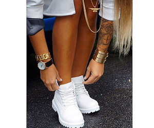 shoes, tattoo, and watch image