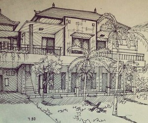 love architecture and drawing house art image