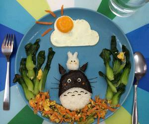 creative, food, and totoro image