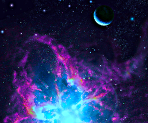 galaxy and blue image