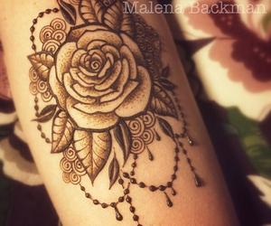 henna, rose, and mehendi image