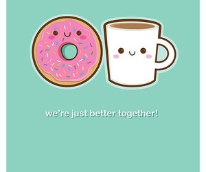 coffee, donuts, and kawaii image
