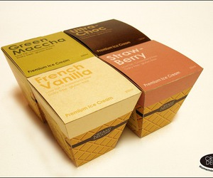 design, ice cream, and packaging image