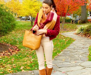 autumn, style blogger, and blanket scarf image