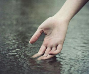 water, hand, and hands image